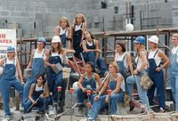 Volleyball Team at Horejsi Construction Site