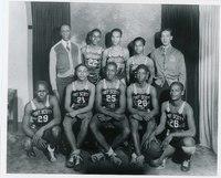 African American high school basketball team, Fort Scott, Kansas, 1940s.