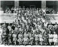 Kansas Vocational School Students and Faculty, Topeka, KS, c. 1940.